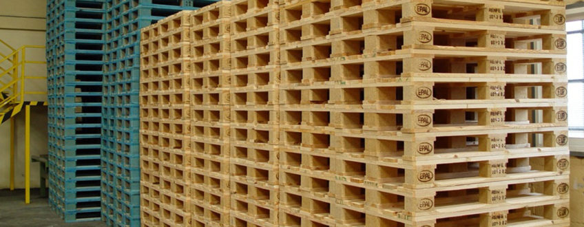 The use of pallets is very widespread in national and international transport.